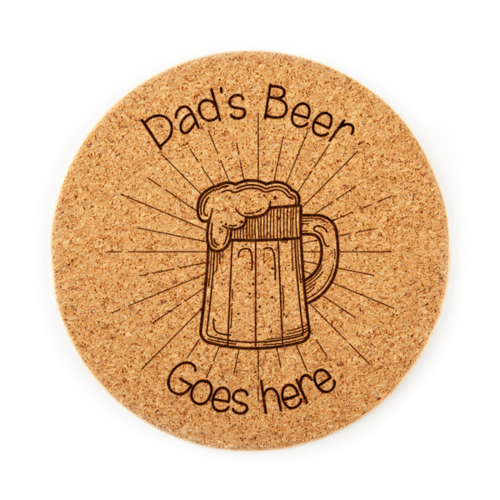 Dad's Beer Goes Here Coaster