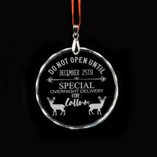 Do Not Open Until December 25th Personalised Crystal Ornament - Reindeer