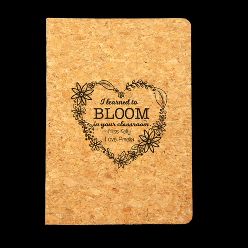 Personalised Cork Journal - Bloomed In Your Class
