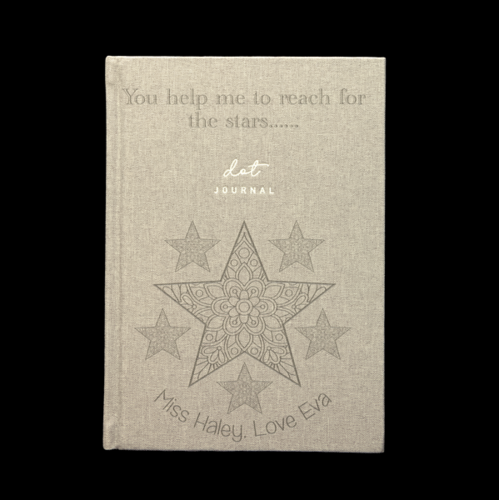 Personalised Dot Journal - Reach For The Stars