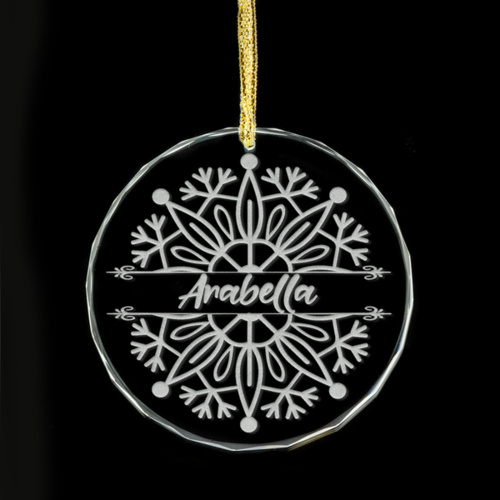 Christmas Snowflake Personalised Glass Ornament