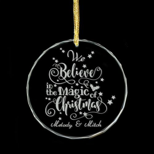 We Believe In The Magic Personalised Glass Ornament