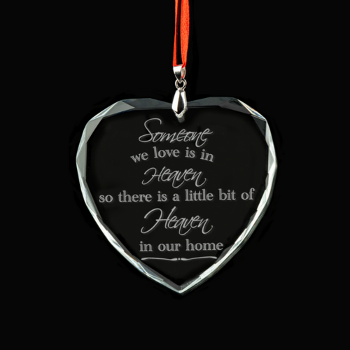 Someone We Love is in Heaven Crystal Ornament