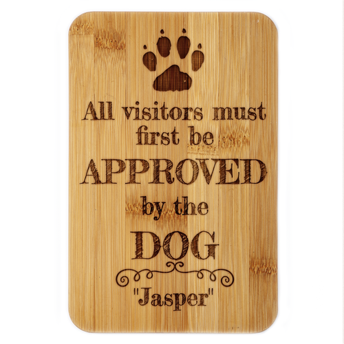Visitors by Approval of the Dog Bamboo Plaue
