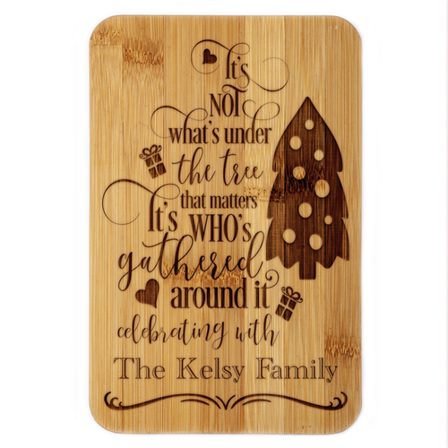 Gathered Around the Tree Family Plaque