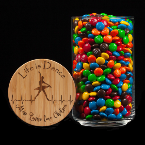 Personalised Lolly Jar - Life Is Dance
