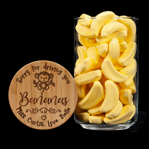 Personalised Lolly Jar - Driving You Bananas