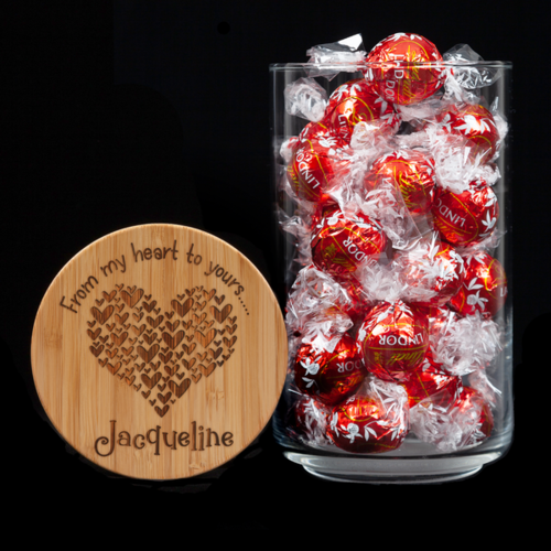 Personalised Lolly Jar - From My Heart To Yours 2